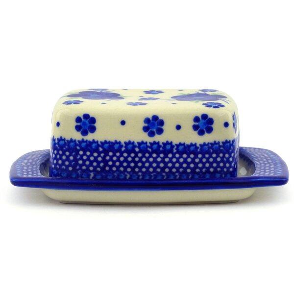Bleu-belle Fleur Butter Dish by Polmedia