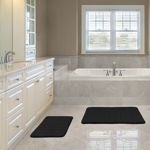 Kulick Hydro Grip Memory Foam 2 Piece Bath Rug by Symple Stuff
