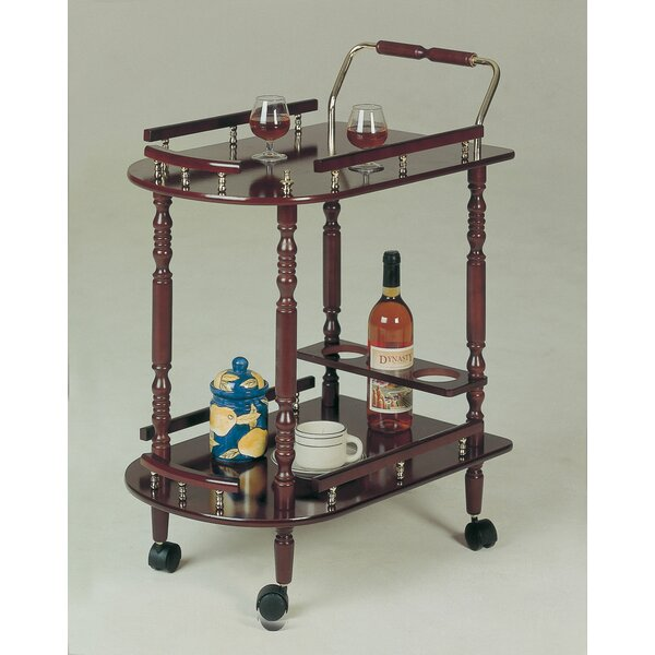 Offerman Wood Rolling Buffet Bar Cart by Astoria Grand