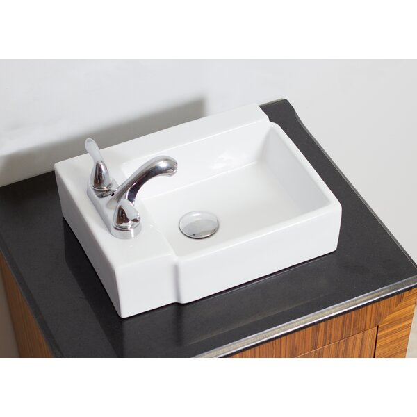 Ceramic 17 Wall Mount Bathroom Sink by American Imaginations