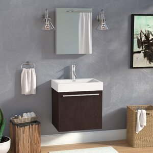Frausto 24″ Single Bathroom Vanity Set with Mirror
