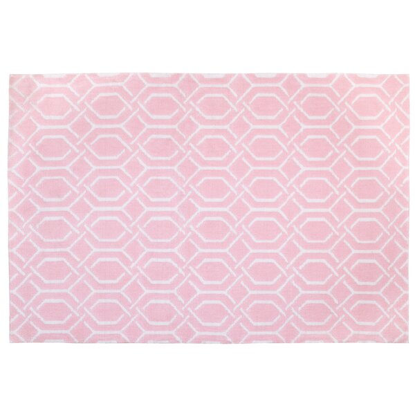 Plush Pink/White Area Rug by Little Love by Nojo