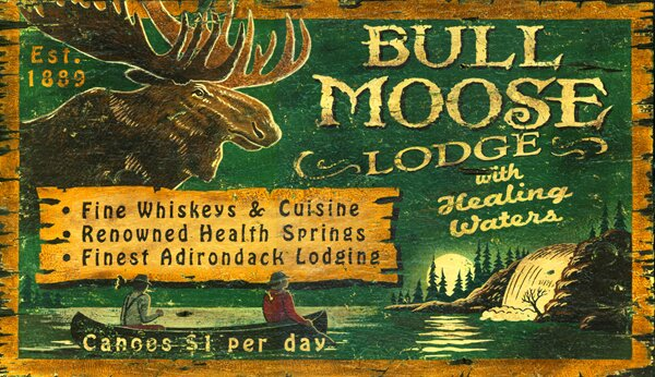 Bull Moose Lodge Vintage Advertisement Plaque by Millwood Pines