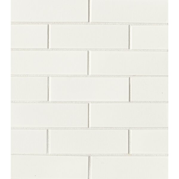 Reverie 2 x 6 Porcelain Mosaic Tile in White by Grayson Martin