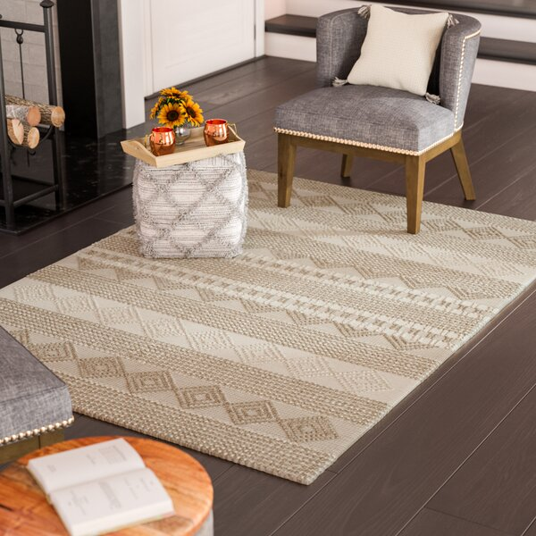 Billie Hand-Tufted Beige/Ivory Area Rug by Laurel Foundry Modern Farmhouse