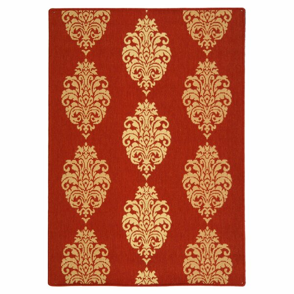 Herefordshire Red/Natural Indoor/Outdoor Area Rug by Winston Porter