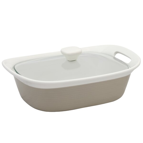 Etch Baking Dish with Glass Cover by Corningware