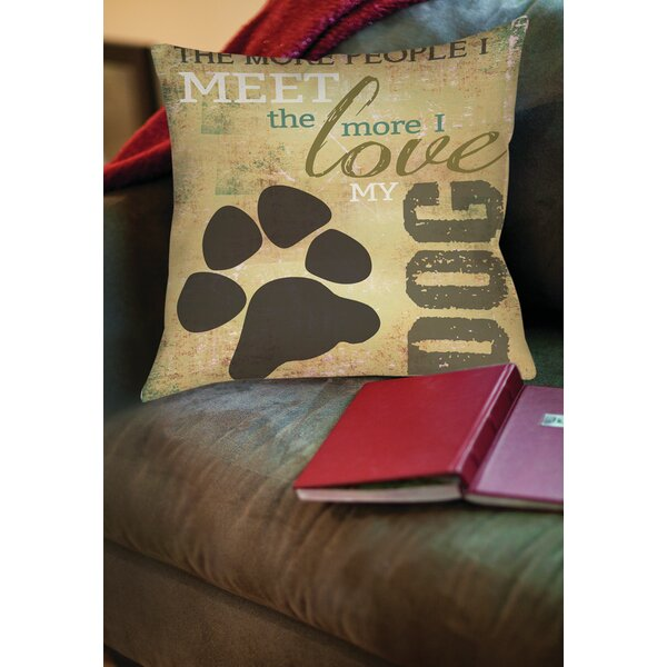 People vs Dog Printed Throw Pillow by Manual Woodworkers & Weavers