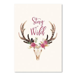 'Stay Wild Skull' Graphic Art Print by Bungalow Rose