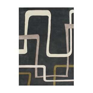 Inexpensive Vincente Hand-Tufted Black Area Rug By The Conestoga Trading Co.