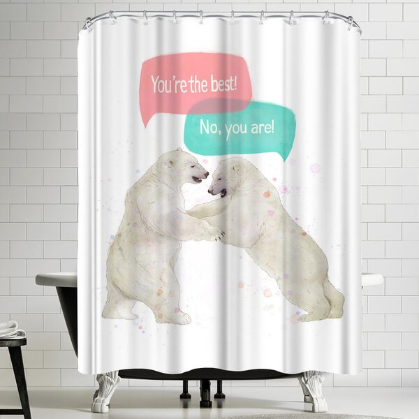 Laura Graves Best Friends Shower Curtain by East Urban Home