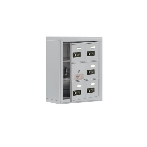 5 Door Cell 3 tier 2 wide Commercial  Locker by Salsbury Industries