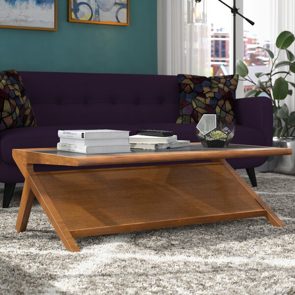 Alvarado Coffee Table with Magazine Rack by Langley Street