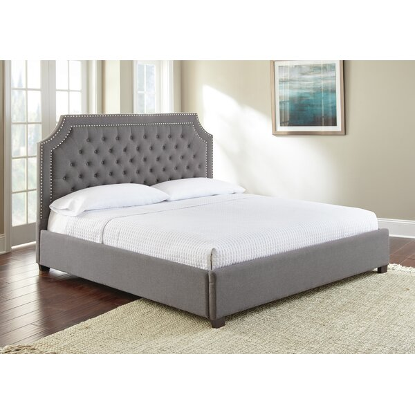 Hanner Upholstered Platform Bed by Alcott Hill