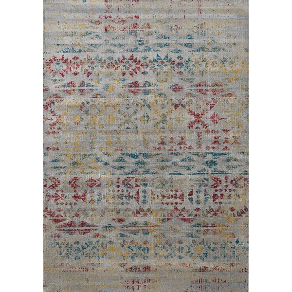 Coletta Hieroglyphic Cream/Gray Area Rug by Bungalow Rose