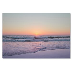 Beach at Sunset by Ariane Moshayedi Photographic Print on Wrapped Canvas by Trademark Fine Art