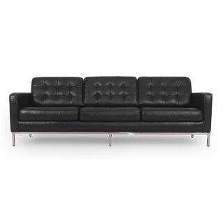 Agostini Mid-Century Leather Sofa by Corrigan Studio SKU:EE187384 Details
