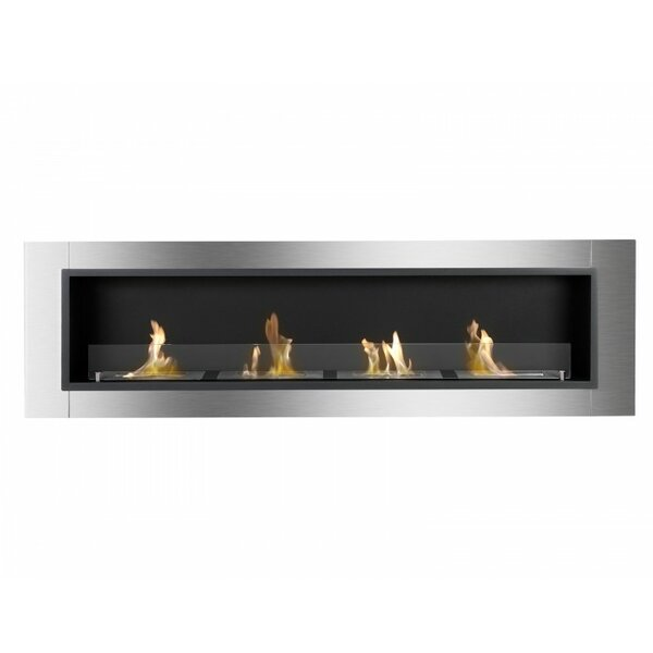 Kevern Recessed Wall Mounted Ethanol Fireplace By Orren Ellis