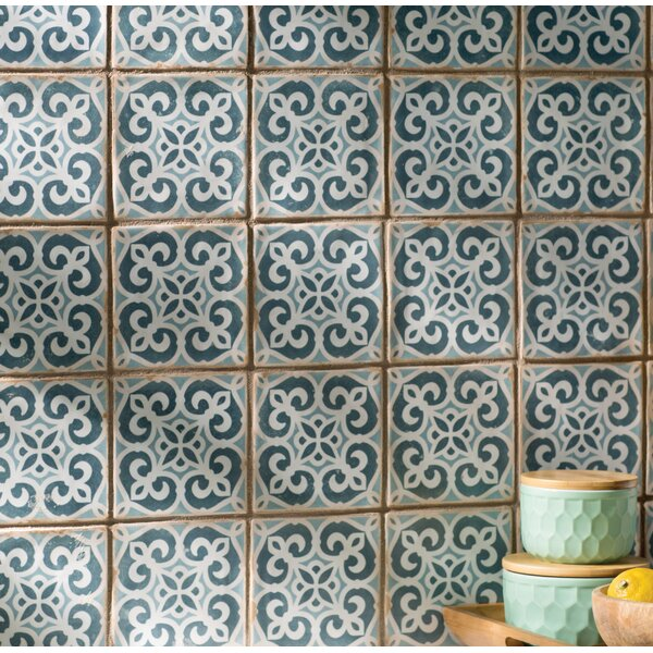 Arquivo 4.875 X 4.875 Ceramic Field Tile in Blue by EliteTile