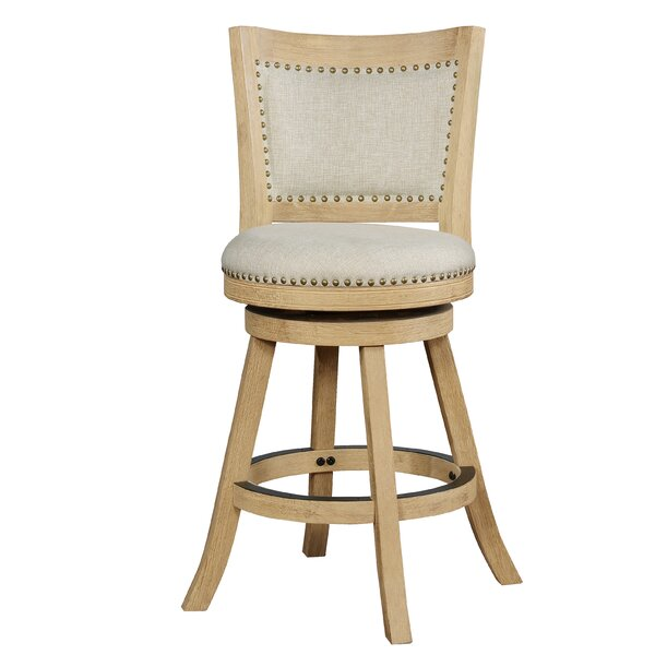 Kolb 31 Swivel Bar Stool by Ophelia & Co.