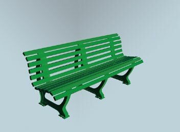 Deluxe Courtside Park Bench by Putterman Athletics