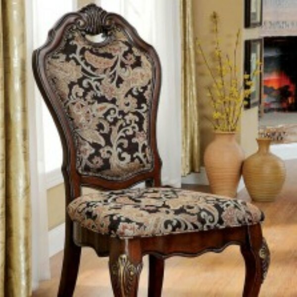 Rochell Cotton Upholstered Ladder Back Side Chair In Brown (Set Of 2) By Astoria Grand