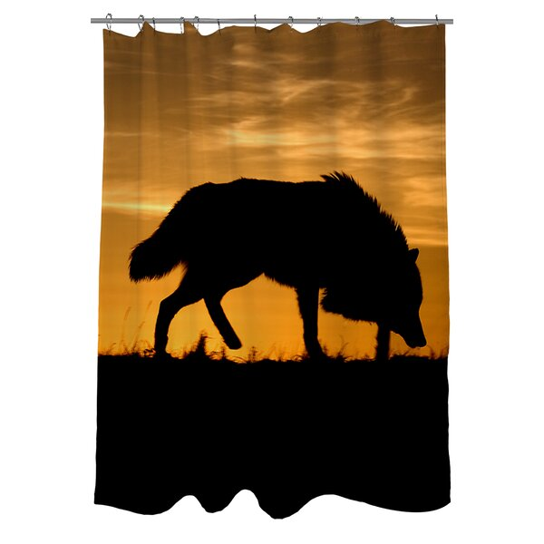 Wolf Silhouette Shower Curtain by Manual Woodworkers & Weavers