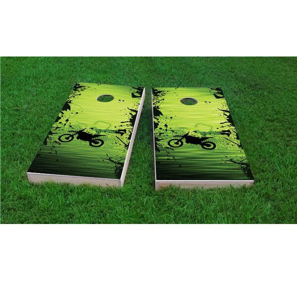 Motocross / Dirt Bike Themed Cornhole Game Set by Custom Cornhole Boards