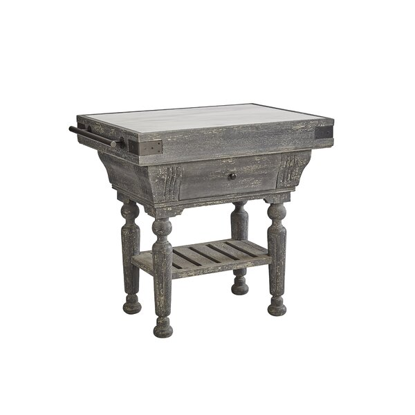 Ryann Kitchen Island with Marble Top by One Allium Way