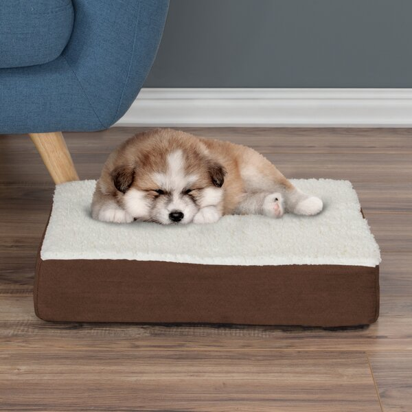 Orthopedic Sherpa Memory Foam Dog Mat By Petmaker.
