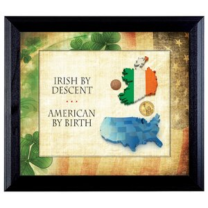 Irish By Descent Framed Memorabilia by American Coin Treasures