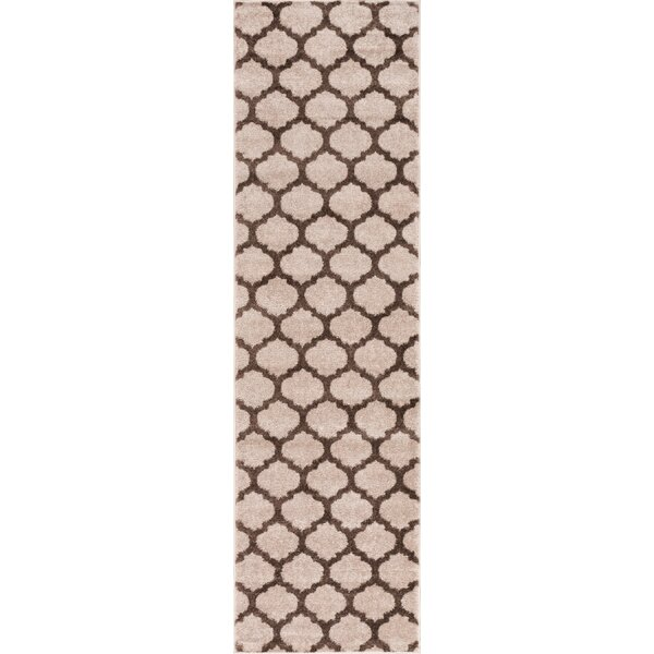 Mystic Zoe Modern Trellis Brown Area Rug by Wrought Studio