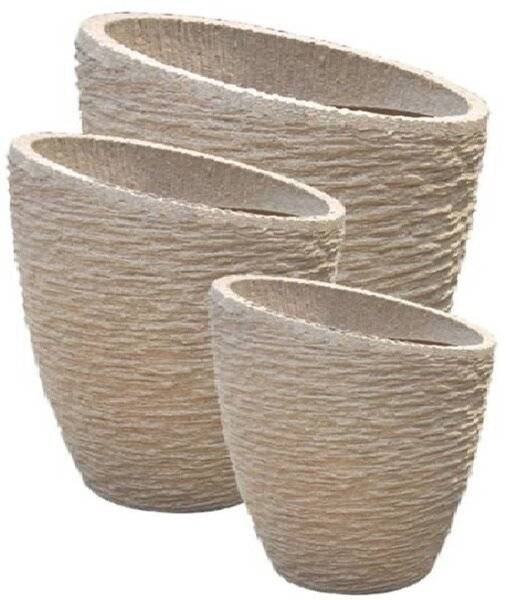 Emest 3-Piece Fiber Stone Pot Planter Set by Bloomsbury Market