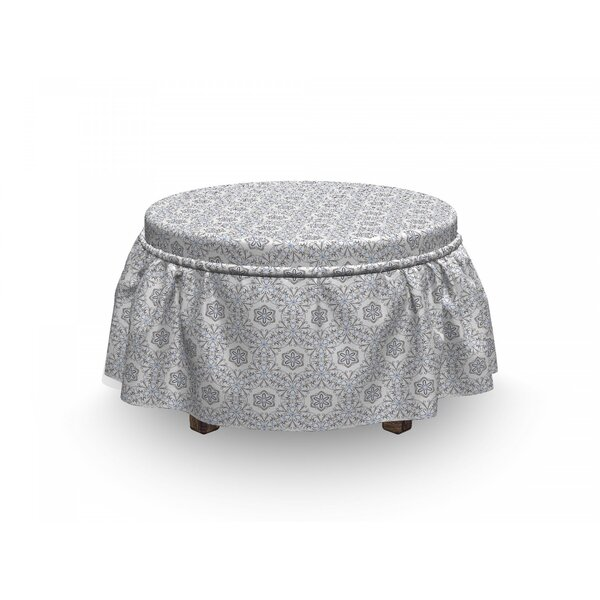 Scroll Curls Mosaic Tile Ottoman Slipcover (Set Of 2) By East Urban Home