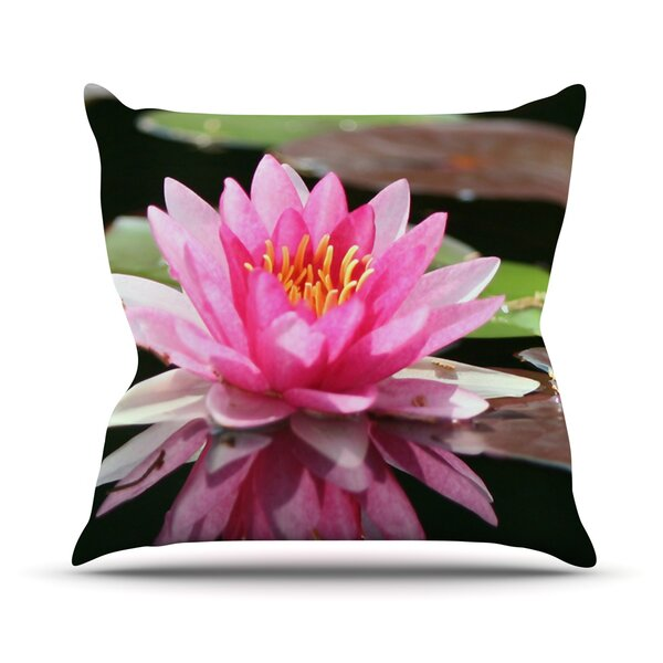 Water Lily Outdoor Throw Pillow by East Urban Home