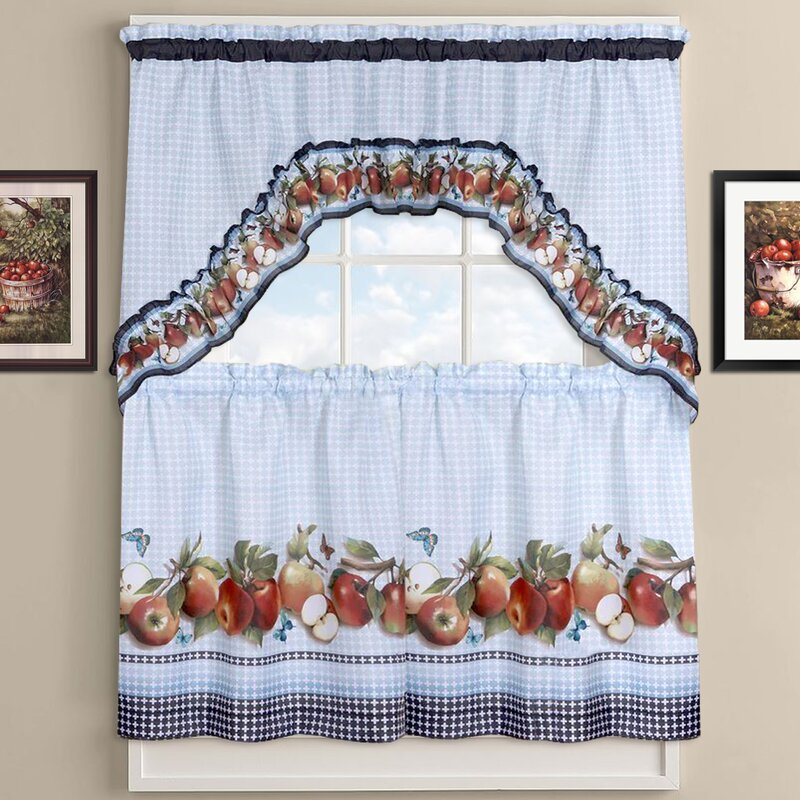 Delicious Apples Kitchen Curtains