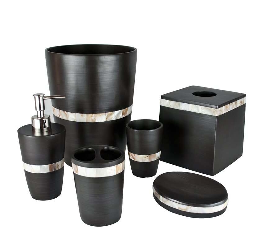 Marvelous Milano 6 Piece Bathroom Accessory Set