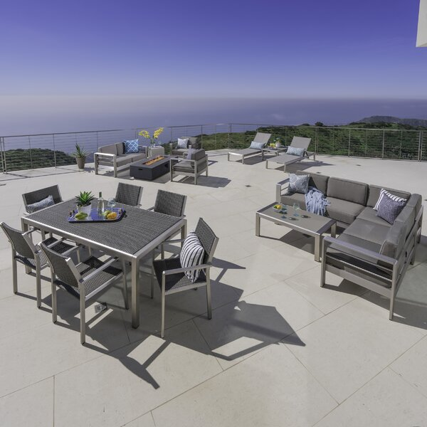 Royalston 17 Piece Complete Patio Set with Cushions by Brayden Studio