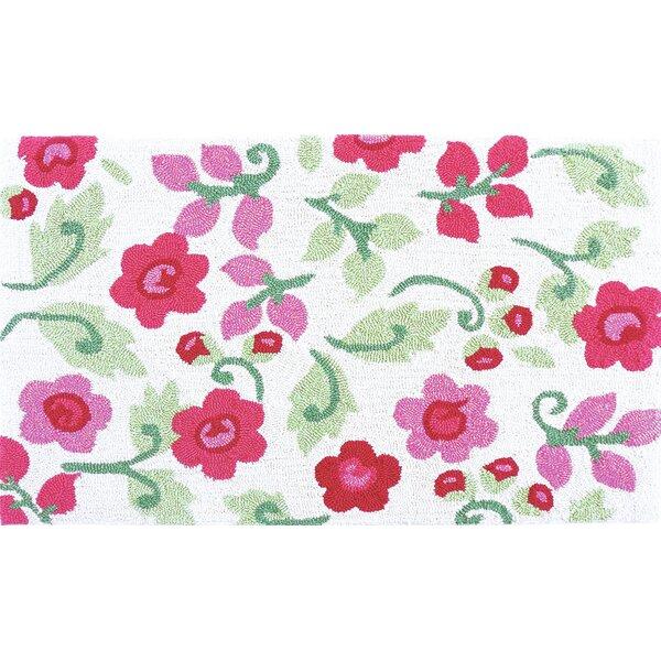Valentine Posies Pink Area Rug by Harriet Bee