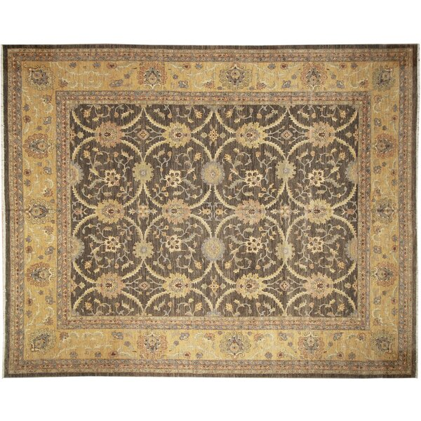 One-of-a-Kind Romona Hand-Knotted Dark Green Area Rug by Isabelline