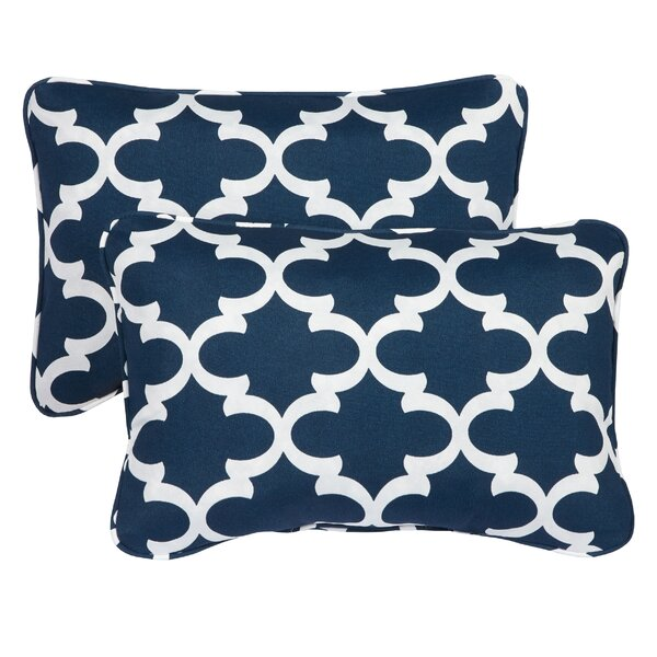 Haight Corded Outdoor Lumbar Pillow (Set of 2) by Brayden Studio