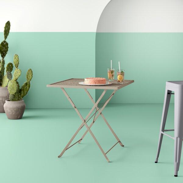 Truett Folding Metal Dining Table by Hashtag Home