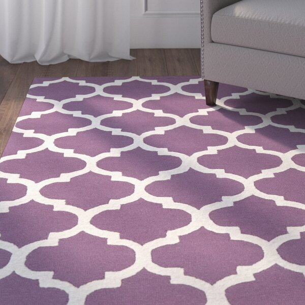 Blaisdell Stella Wool Purple/Ivory Area Rug by Charlton Home