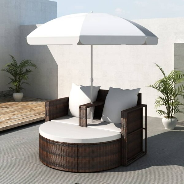 Tawanda Garden Patio Daybed With Cushions By Bay Isle Home