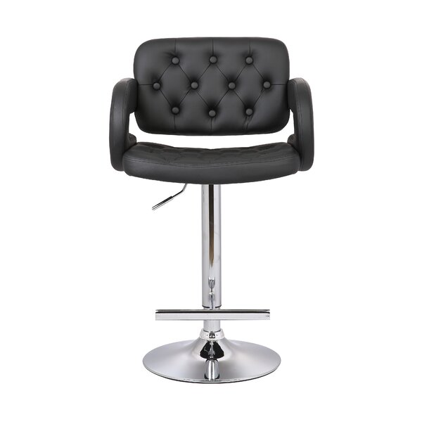 Adjustable Height Swivel Arm Bar Stool by AC Pacific