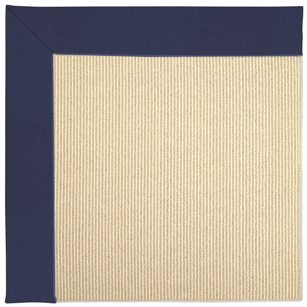Lisle Machine Tufted Navy/Beige Indoor/Outdoor Area Rug by Longshore Tides