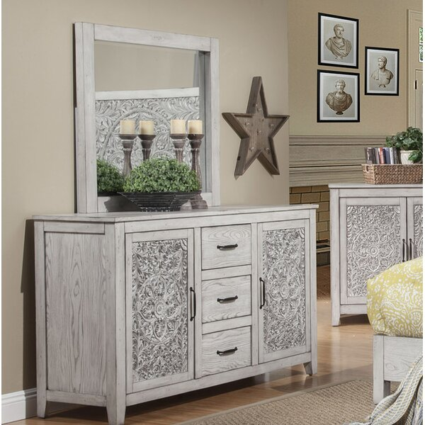 Orellana 3 Drawer Combo Dresser with Mirror by One Allium Way