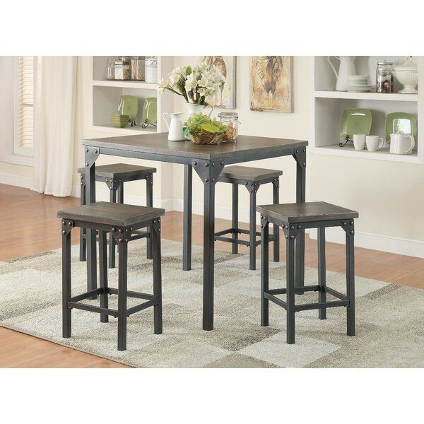 Browne 5 Piece Counter Height Dining Set by Gracie Oaks