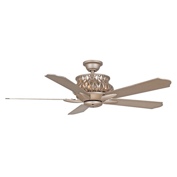 52 Jonson 5-Blade Ceiling Fan with Remote by House of Hampton