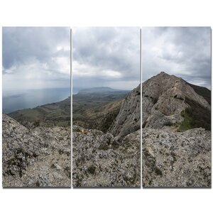 'Rocky Mountain Peak Panorama' Photographic Print Multi-Piece Image on Canvas by Design Art